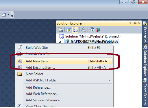 Start to learn ASP.Net 2010 with c# language.