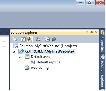 Solution Explorer in ASP.Net C#