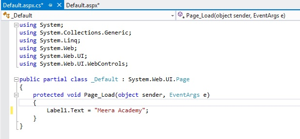 Label Control in ASP Net with an Example