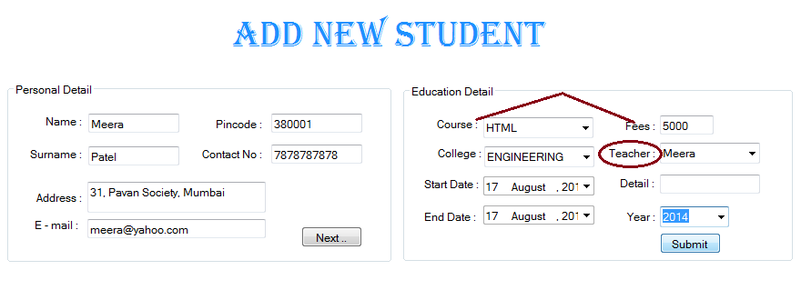 Student Management System Project in C#  Net