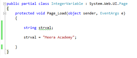 String type variable in c#.net