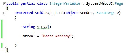 String type variable in c#.net