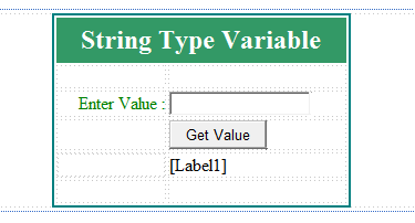 String type variable example in c#.net