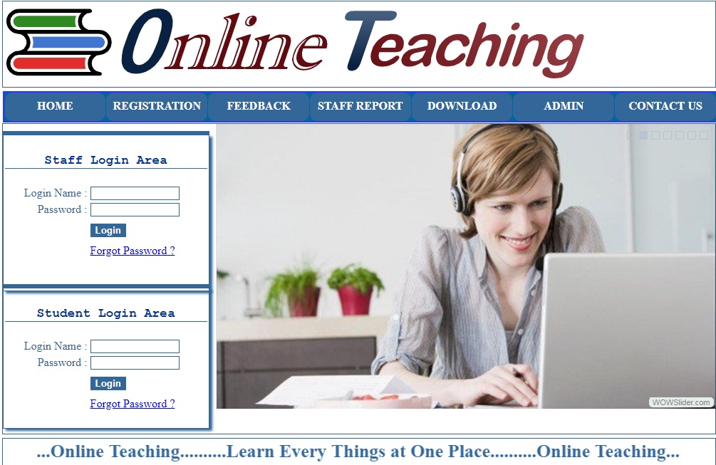 Online Teaching Project in ASP.Net C#