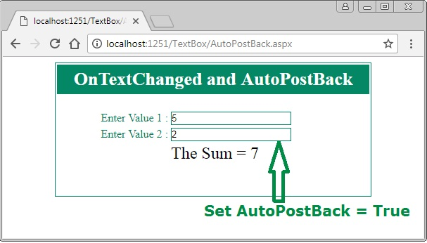 TextBox TextChanged event and AutoPostBack in ASP.Net