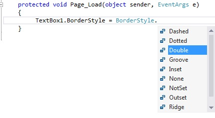 Border Style Property in ASP.Net C#