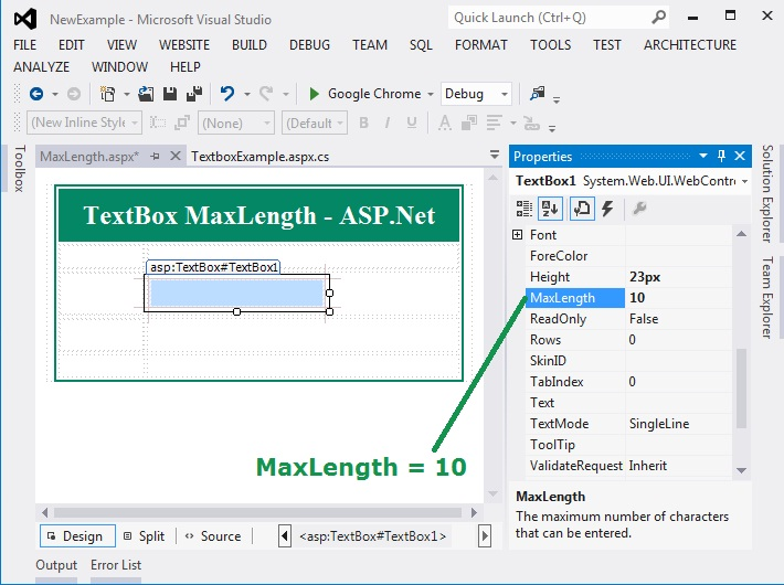 Set TextBox MaxLength in ASP.Net